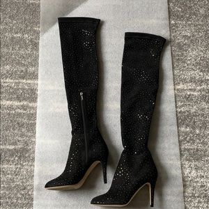 🔥Jimmy Choo Scattered Crystal Over-the-Knee Boots